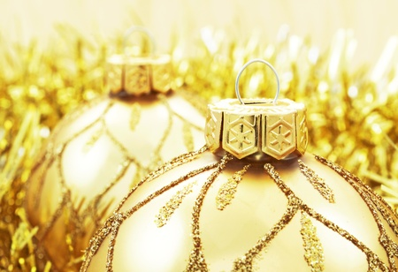 Golden Christmas decoration  Stock Photo