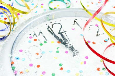 Nearly Midnight!Happy New Year! Stock Photo
