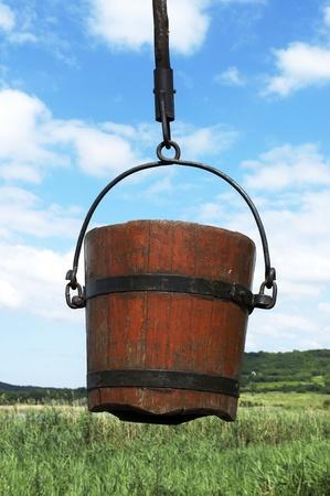 Bucket of shadoof  Stock Photo