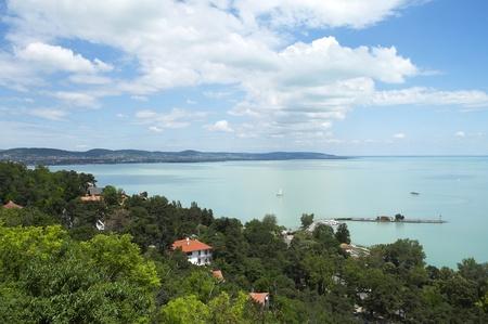 Beautiful panorama from Tihany peninsula on Lake Balaton