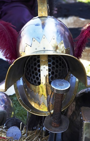Gladiator helmet  Stock Photo