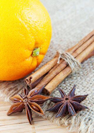 Orange and cinnamon still life  Stock Photo