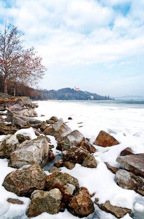 Lake Balaton in winter time,Tihany,Hungary