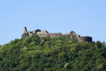 Szigliget castle at Lake Balaton, Hungary  Stock Photo
