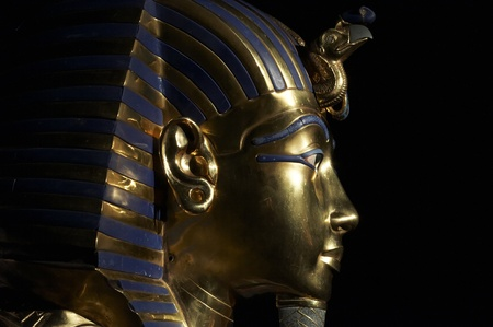 egypt: Tutankhamen s golden mask  Stock Photo