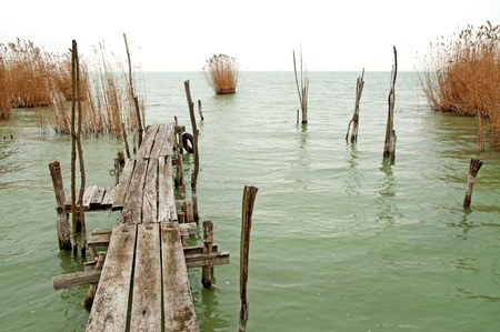 Old pier at Lake Balaton ,Hungary