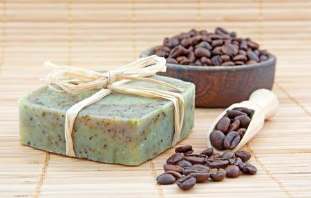 Hand-made soap with coffee  photo