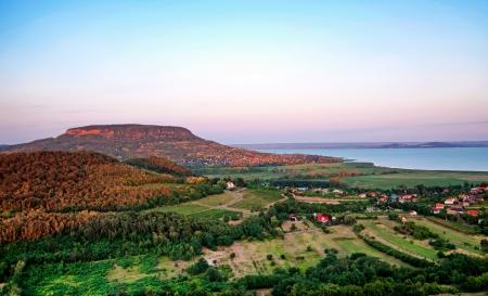 View to Lake Balaton from Szigliget,Hungary Stock Photo