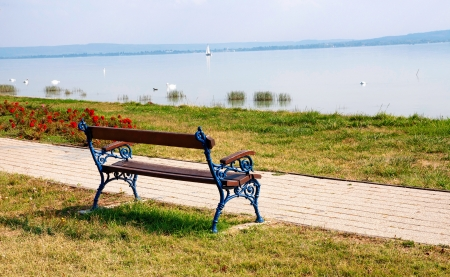 Bench at Lake Balaton,Hungary