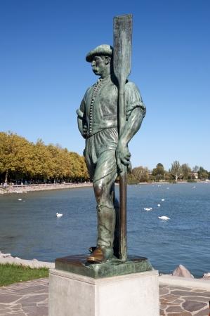 Boatman sculpture at Lake Balaton,Hungary