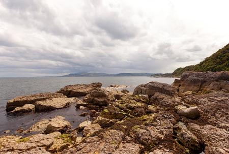 Rocks at the Atlantic ocean in Ireland Stock Photo