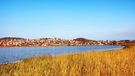 Autumn landscape of Tihany,Hungary Stock Photo
