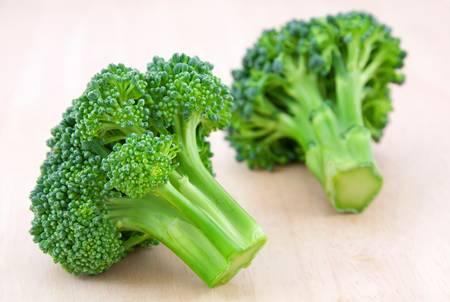 Fresh broccoli on desk