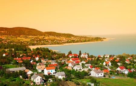 Landscape at Lake Balaton,Hungary Stock Photo