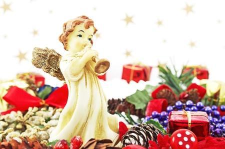 Angel and Christmas decoration   photo