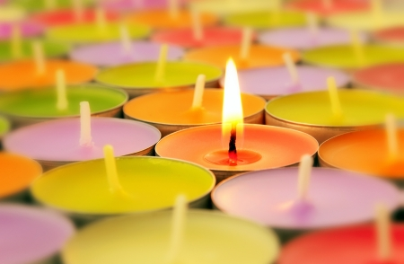 christmas candle: Colorful candles