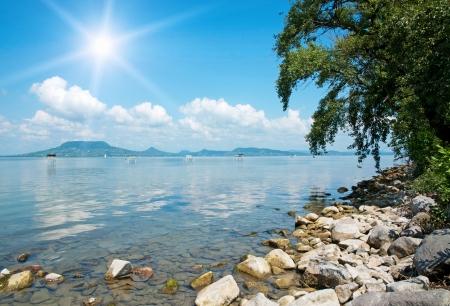 balaton: Landscape of Lake Balaton, Hungary
