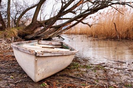 Fishing boat at Lake Balaton,Hungary