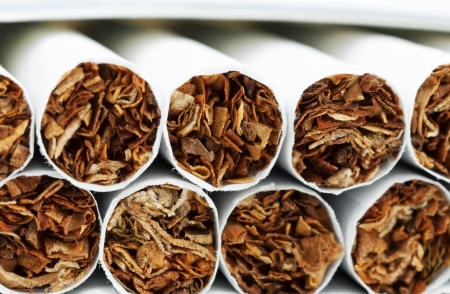 Macro of a pile of cigarettes