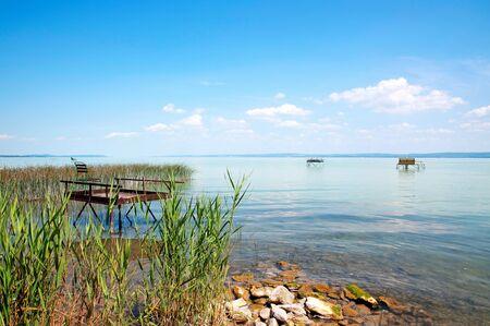 Angler pier at Lake Balaton, Hungary