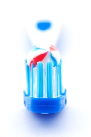 Toothbrush with toothpaste photo