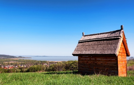 Little house at Lake Balaton,Hungary photo