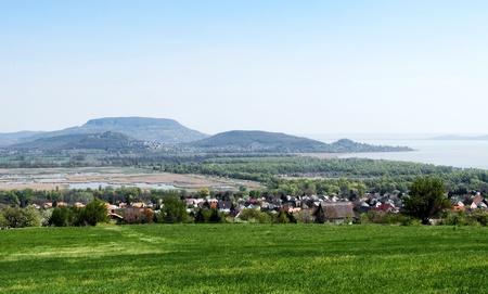 Panorama to Lake Balaton and volcanoes,Hungary