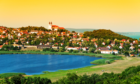 Landscape of Tihany at the inner lake, Hungary