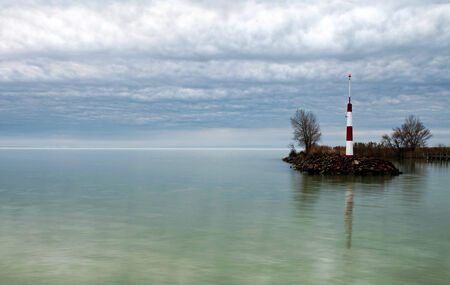 Breakwater at Lake Balaton, Hungary Stock Photo - 24732047