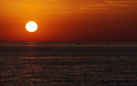 balaton: Sunset time at Lake Balaton, Hungary