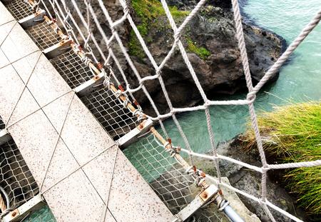 acrophobia: Crossing the rope bridge