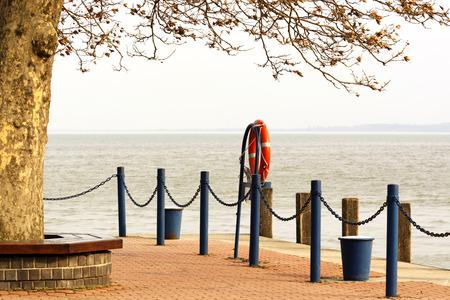 balaton: Keszthely harbor at Lake Balaton Hungary