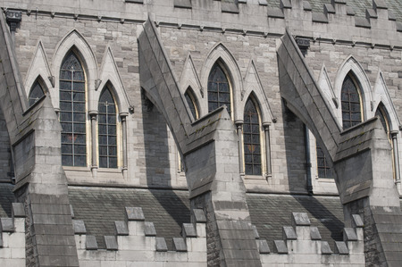 irish history: Detail of Christ Church Cathedral in Dublin, Ireland