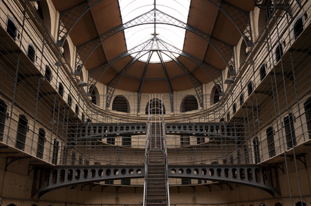 gaol: Kilmainham Gaol with Prison Cells in Dublin, Ireland