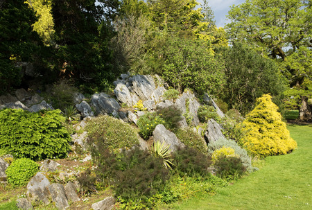 rockery: Rockery park in Ireland ( Kerry country ) Stock Photo