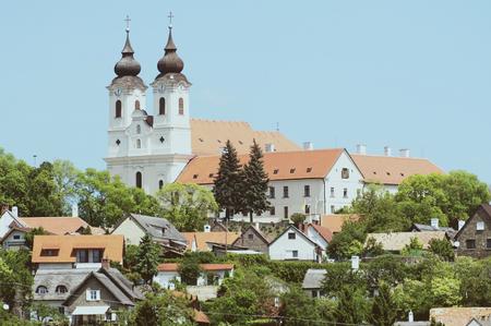Benedictine Abbey in Tihany, Hungary (vintage style)