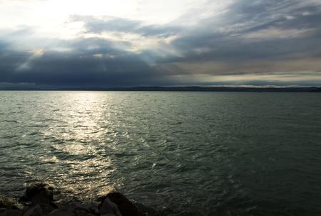Sunset at Lake Balaton, Hungary (Balatonfoldvar)
