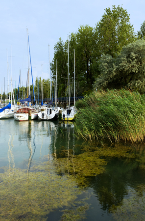 Port of Lake Balaton at Balatonfoldvar, Hungary