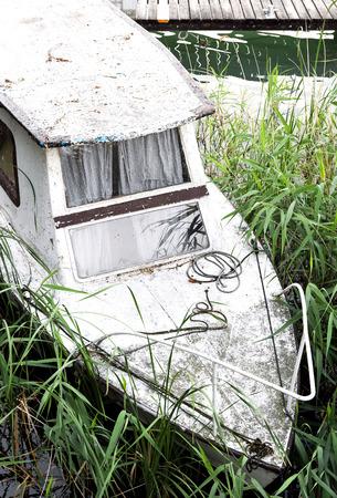Old ship at Lake Balaton, Hungary