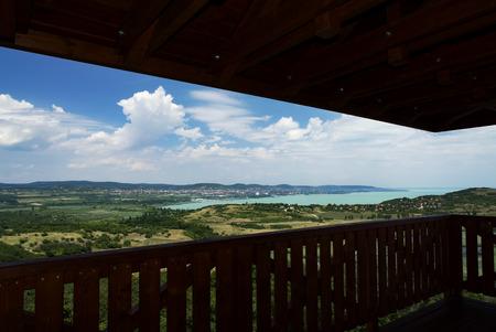View to Lake Balaton from Tihany peninsula, Hungary