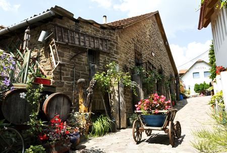 Yard of old times in Tihany at Lake Balaton in July 2017, Hungary