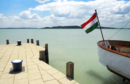 Port of Balatonfured at Lake Balaton, Hungary