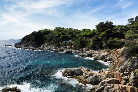 Coast of LIoret de Mar, Spain (Costa Brava)