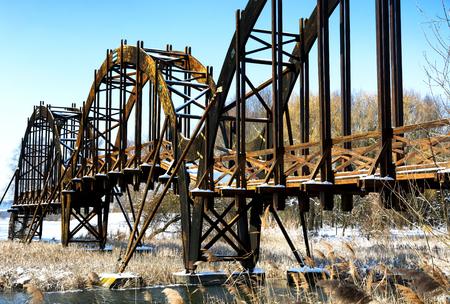 Bridge over Lake Balaton, Hungary (Kányavár) Stock Photo