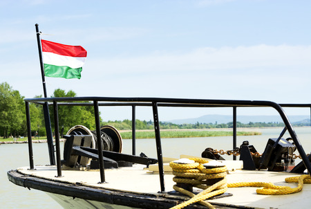 Passenger ship at Lake Balaton, Hungary Standard-Bild