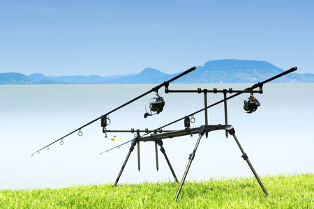 Fishing Rods at Lake Balaton, Hungary