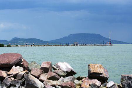 Landscape at Lake Balaton, Hungary Stock Photo