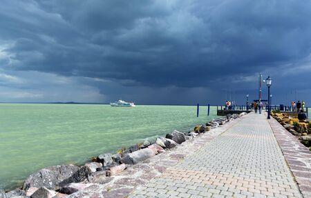 Stormy day at Lake Balaton, Hungary