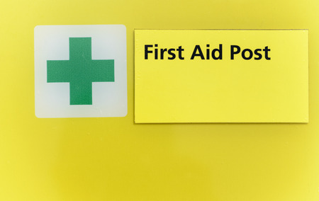 sign post: First aid post sign
