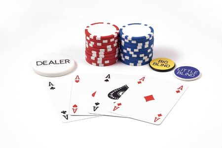 4 aces and poker chips Editorial